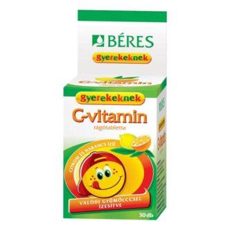 Béres C-vitamin rágótabletta gyerekeknek - 30db