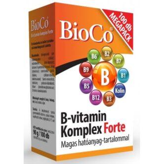 BioCo B-vitamin komplex forte tabletta - 100db