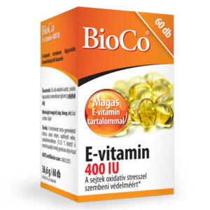 BioCo E-vitamin 400 IU lágyzselatin kapszula - 60db