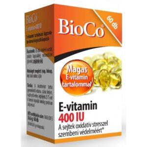 BioCo E-vitamin 400 IU kapszula - 60db