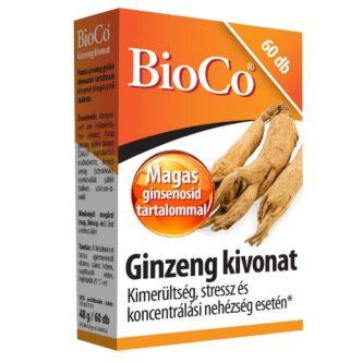 BioCo Ginzeng kivonat tabletta - 60db