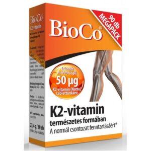 BioCo K2-vitamin tabletta - 90db