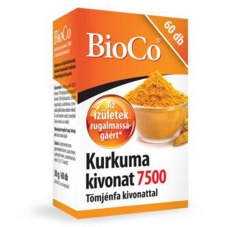 BioCo Kurkuma kivonat 7500 Tömjénfa kivonattal tabletta - 60db