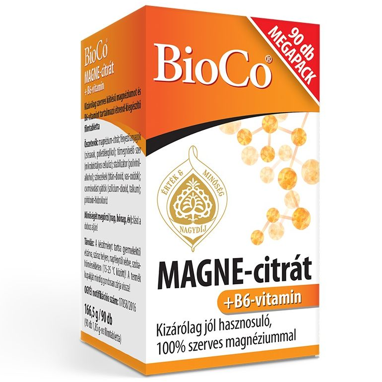 BioCo MAGNE-citrát + B6-vitamin Megapack - 90db