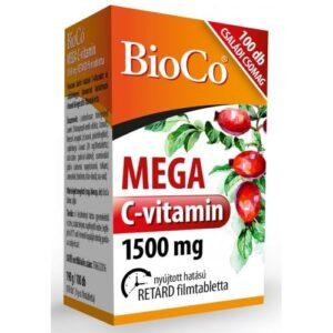 BioCo Mega C-vitamin 1500mg filmtabletta - 100db