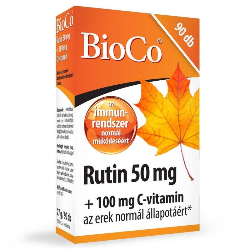 BioCo Rutin 50mg + 100mg C-vitamin tabletta - 90db