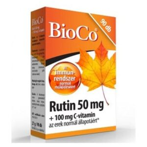 BioCo Rutin 50mg + 100mg C-vitamin tabletta - 90db