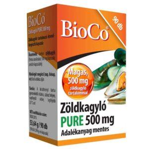 BioCo Zöldkagyló Pure 500mg kapszula - 90db