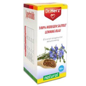 Dr. Herz Hidegen sajtolt lenmag olaj - 50ml