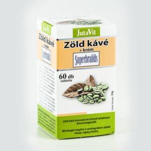 Jutavit zöld kávé+króm tabletta - 60db