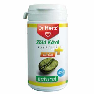 Dr. Herz zöld kávé 200mg + króm kapszula 60db