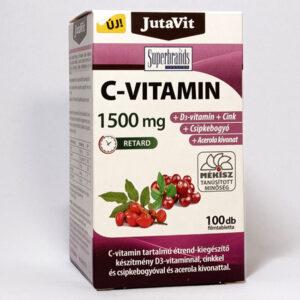 Jutavit C-vitamin 1500mg + D3-vitamin + Cink tabletta – 100db