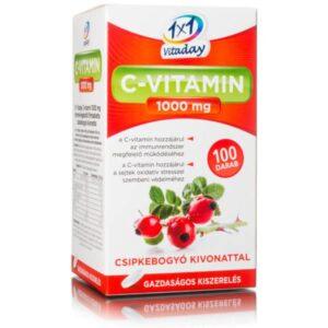 1x1 Vitamin C-vitamin 1000mg + csipkebogyó tabletta - 100db