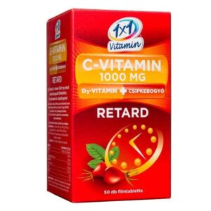 1×1 Vitamin Retard C+D C-vitamin 1000mg D3-vitamin 500NE + csipkebogyó tabletta – 50db
