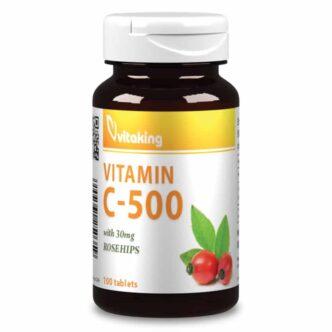 Vitaking 500mg C-vitamin tabletta - 100 db