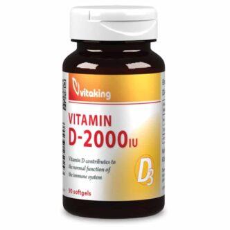 Vitaking D-2000 vitamin kapszula - 90db
