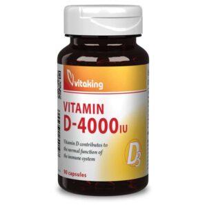 Vitaking D3-vitamin D-4000NE kapszula - 90db