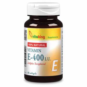 Vitaking Természetes E-400 vitamin gélkapszula - 60 db
