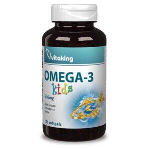 Vitaking Omega-3 Kids gélkapszula - 100 db