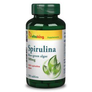 Vitaking Spirulina alga tabletta - 200db
