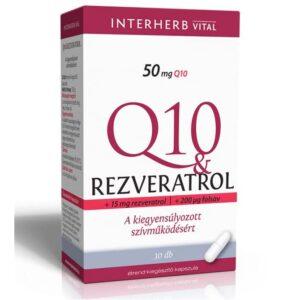 Interherb Q10 & Rezveratrol kapszula - 30db