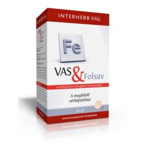 Interherb Vital vas & folsav tabletta - 60db