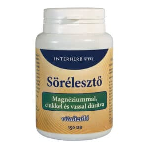Interherb sörélesztő tabletta magnéziummal - 150db
