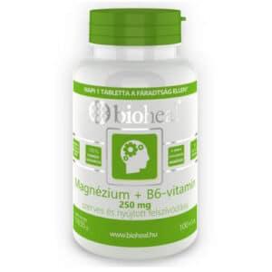 Bioheal Magnézium + B6-vitamin szerves, nyújtott felszívódású filmtabletta - 105db