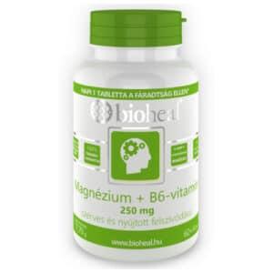 Bioheal Magnézium + B6-vitamin szerves, nyújtott felszívódású filmtabletta - 70db