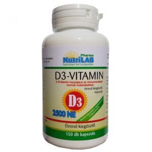 Nutrilab D3-Vitamin 2500NE kapszula - 150db
