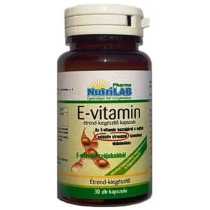 Nutrilab E-vitamin kapszula - 30db