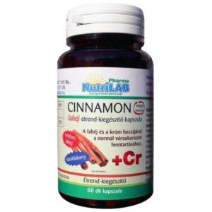 Nutrilab Cinnamon ceyloni fahéj kapszula - 60db