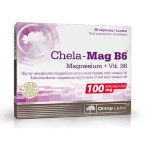 Olimp Labs Kelátkötésű gyorsan felszívódó Magnézium+B6 kapszula - 30db