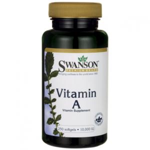 Swanson A-10000 vitamin gélkapszula - 250 db