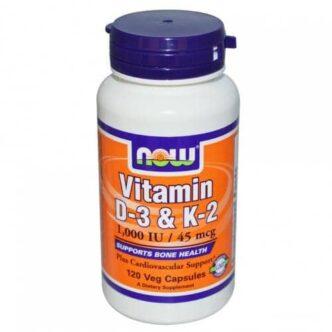 Now D3- és K2-vitamin kapszula - 120db