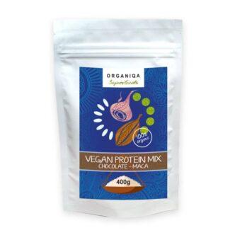 Organiqa 100% bio csokoládé-maca vegán fehérje mix - 400g