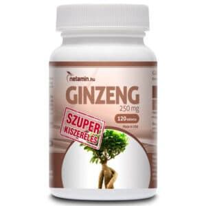 Netamin Ginzeng 250mg tabletta (SZUPER kiszerelés) - 120db