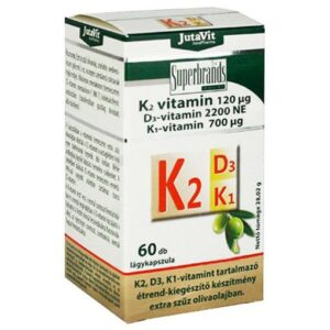 Jutavit K2+D3+K1-vitamin tabletta - 60db
