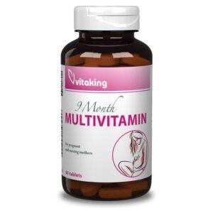 Vitaking 9 Month Multivitamin tabletta – 60db