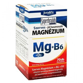 Jutavit Szerves Magnézium-B6+D3-vitamin filmtabletta - 70db