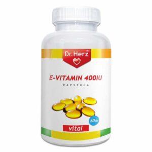 Dr. Herz E-vitamin 400IU lágyzselatin kapszula - 60db