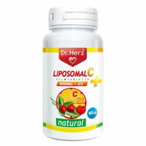 Dr. Herz Liposom C+D C-vitamin 800mg + D3-vitamin 800NE filmtabletta – 60db