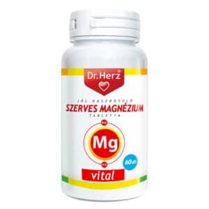 Dr. Herz Szerves Magnézium+B6+D3-vitamin tabletta - 60db