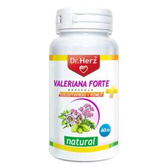Dr. Herz Valeriana Forte + Golgotavirág + Komló kapszula - 60db