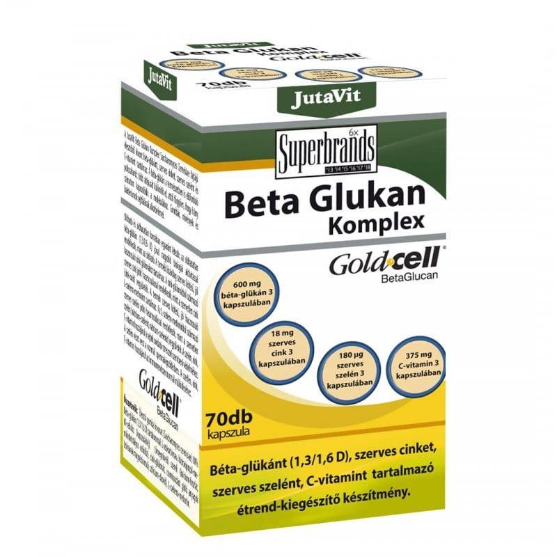 Jutavit Béta Glukan (Béta-Glükán) komplex kapszula - 70db