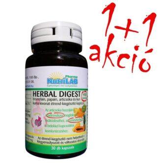 Nutrilab Herbal Digest kapszula 1+1 akció – 2x30db