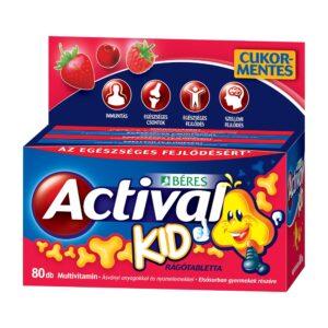 Béres Actival Kid rágótabletta - 60+20db