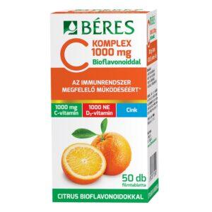 Béres C Komplex C+D+Cink C-vitamin 1000mg + D3-vitamin 1000NE filmtabletta - 50db