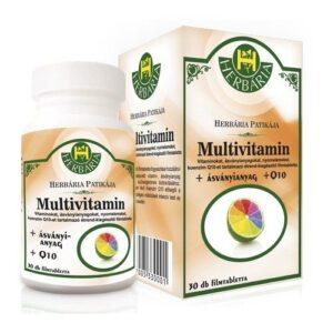Herbária multivitamin + Q10 tabletta