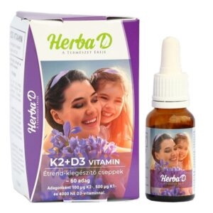 Herba-D K2+D3-vitamin csepp - 60 napi adag - 20ml